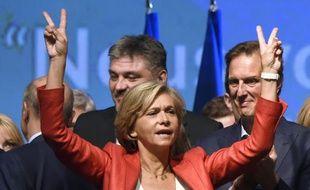 Valérie Pecresse, tête de liste les Républicains aux Régionales, lors d'un meeting à Nogent-sur-Marne, le 27 septembre 2015