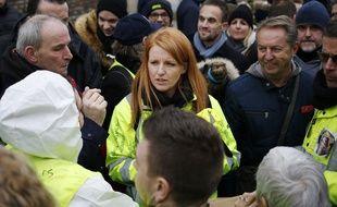 """Ingrid Levavasseur, figure des """"gilets jaunes"""" à Grand Bourgtheroulde, le 15 janvier 2019."""