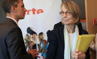 18052018. Str. La ministre de la culture Françoise Nyssen et le député Bruno Studer. Strasbourg le 18 mai 2018.