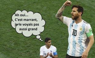 Varane face à Messi avant France-Argentine en 8e de finale de Coupe du monde.