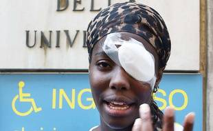 L'athlète italienne Daisy Osakue a été blessée à l'oeil dans une agression raciste le 29 juillet 2018.
