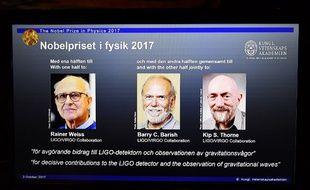 Trois Américains Nobel de physique pour l'observation des ondes gravitationnelles