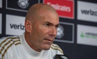 Zinédine Zidane en conférence de presse à Washinghton, le 22 juillet 2019.