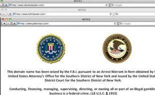 Les trois sites de jeu en ligne ont été fermés par la police fédérale.
