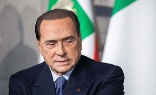 Silvio Berlusconi, le 7 mai 2018, à Rome (Italie).