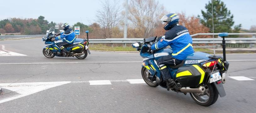 Les motards de la gendarmerie nationale. (Illustration)