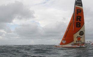Le bateau de Vincent Riou, PRB, le 10 novembre 2012 lors du Vendée Globe.