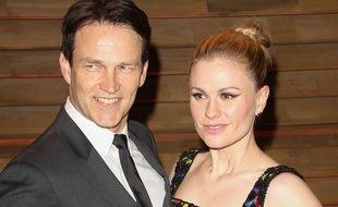 Stephen Moyer et son épouse Anna Paquin, le 3 mars 2014, à West Hollywood.
