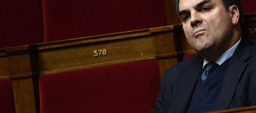 Thomas Thévenoud, le 8 février 2017 à l'Assemblée nationale.