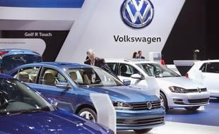 Le stand Volkswagen au salon de Detroit, le 12 janvier 2016.