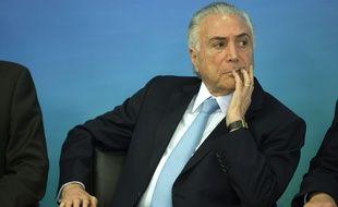 Michel Temer à Brasilia, le 31 janvier 2018.