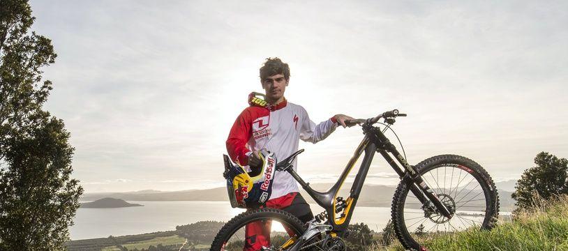 Le Français Loïc Bruni, champion du monde de VTT descente.