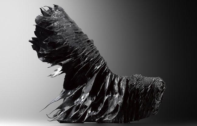 Une chaussure/objet d'art Iris van Herpen.