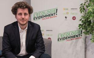 Julien Bayou, tête de liste EELV aux élections régionales en Ile-de-France, à Paris le 3 Mars 2021.