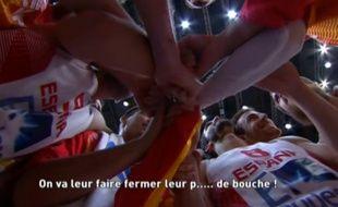 Felipe Reye sait trouver les mots pour motiver ses coéquipiers avant la demi-finale de l'Eurobasket 2015 entre la France et l'Espagne.