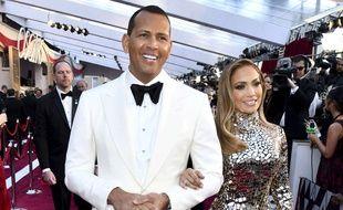Alex Rodriguez et Jennifer Lopez à Los Angeles.