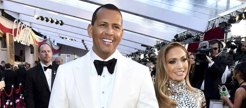 Alex Rodriguez et Jennifer Lopez à Los Angeles.
