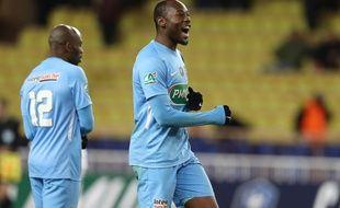 Sunzu, lors du 32e de finale de Coupe de France contre Monaco