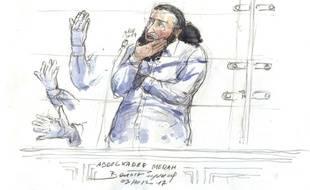 Abdelkader Merah lors de son premier interrogatoire mardi 3 octobre 2017 devant la cour d'assises spéciale de Paris.