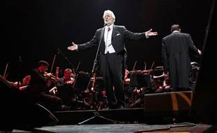 Le chanteur Placido Domingo en concert à Kiev