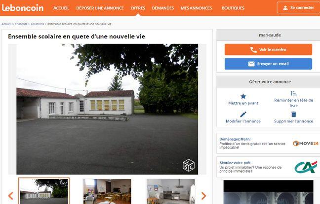 L'annonce sur le site Le Bon Coin (capture d'écran)