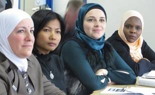 Lyon, le 11 octobre 2016. Reportage à l'institut de formation RHône-Alpes où 14 migrants suivent actuellement des cours de français en vue de renouveler leur titre de séjour.
