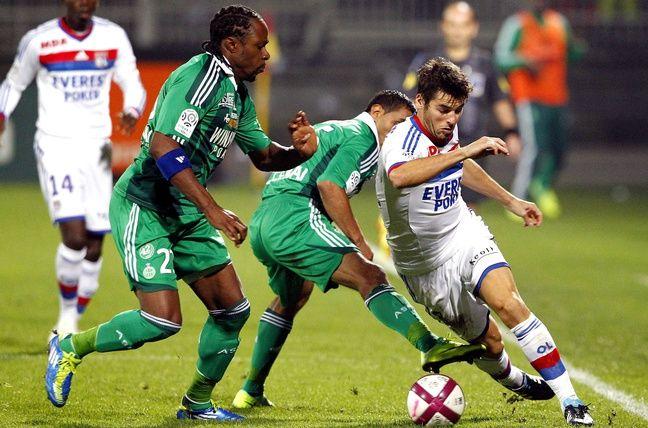 Lors du derby face au Lyon de Yoann Gourcuff, le 29 octobre 2011 à Gerland.