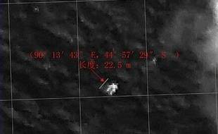 Un objet de 22m de long a été repéré par la Chine dans le sud de l'océan Indien, le 19 mars 2014, lors des recherches du vol MH370.
