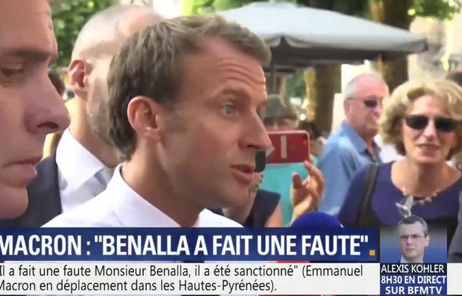 VIDEO. Affaire Benalla: Macron, «fier» d'avoir embauché Alexandre Benalla, dénonce les «bêtises» parues dans la presse