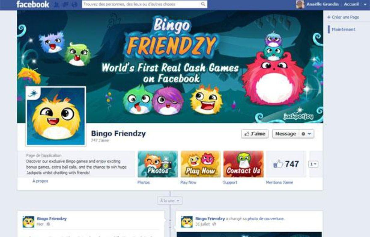 L'appli Facebook «Bingo Friendzy» permet aux utilisateurs majeurs de jouer au Bingo avec de l'argent réel au Royaume-Uni. – CAPTURE D'ECRAN/20MINUTES.FR