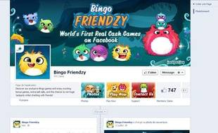 L'appli Facebook «Bingo Friendzy» permet aux utilisateurs majeurs de jouer au Bingo avec de l'argent réel au Royaume-Uni.