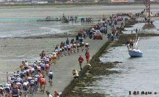 Les coureurs étaient passés en 1999 sur le Gois... la seule fois en version course.