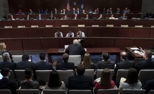 L'ancien directeur de la CIA, John Brennan, lors de son audition au Congrès le 23 mai 2017 à Washington.