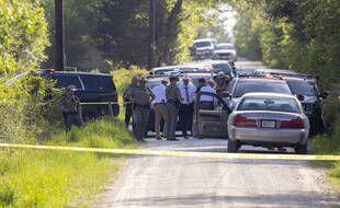 Lors de l'arrestation du responsable présumé de la fusillade de Bryan.