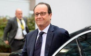 Le président de la République, François Hollande, le 24 octobre 2014 à Bruxelles.