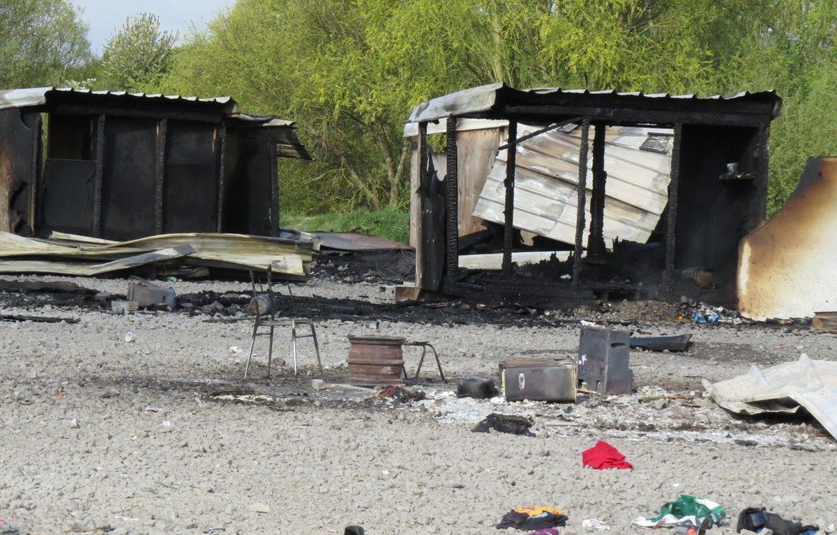 Cabanon détruit dans le camp de migrants de Grande-Synthe (Nord) – O. Aballain / 20 Minutes