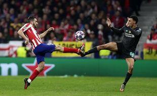 Un duel lors d'Atletico Liverpool