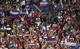 Des supporters russes au Vélodrome le 11 juin 2016.