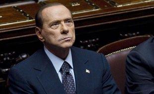 Silvio Berlusconi, chef du gouvernement italien, au Parlement italien, le 8 novembre 2011