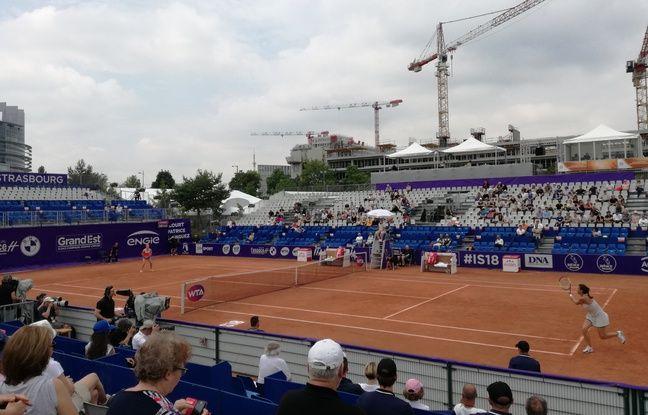 Le cours principal des Internationaux de Strasbourg lors de l'édition 2018 du tournoi de tennis féminin.