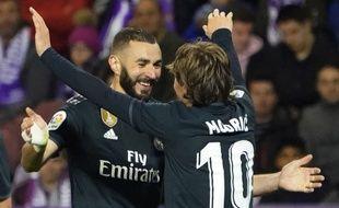 Benzema a marqué un doublé contre Valladolid.