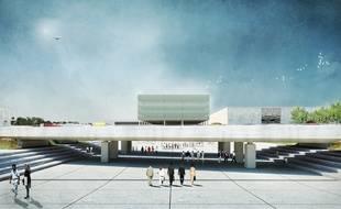 Le parvis du MEETT, le nouveau par des expositions de la métropole toulousaine.