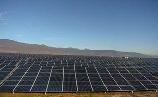 Une centrale solaire à Visonta en Hongrie (illustration).
