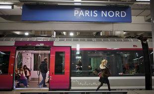 Un train de la SNCF en Gare du Nord.
