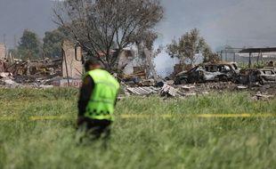 Des explosions dans des entrepôts de feux d'artifice ont fait au moins 19 morts à Tultepec, au Mexique, le 5 juillet 2018.