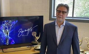 Le président de l'Académie des Emmy Awards, Frank Scherma, lors de l'annonce virtuelle des nommés pour la 72e cérémonie, le 28 juillet 2020.