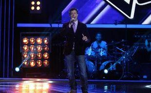 Chris, l'ex-leader des G-Squad sur le plateau de «The Voice».