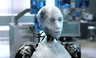 Un robot dans le film I, Robot de Alex Proyas.