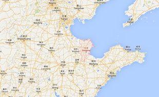 Vue Google Maps de Dongying, à l'est de la Chine.