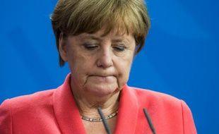 La chancelière allemande Angela Merkel lors d'une conférence de presse à Berlin, le 2 juin 2016